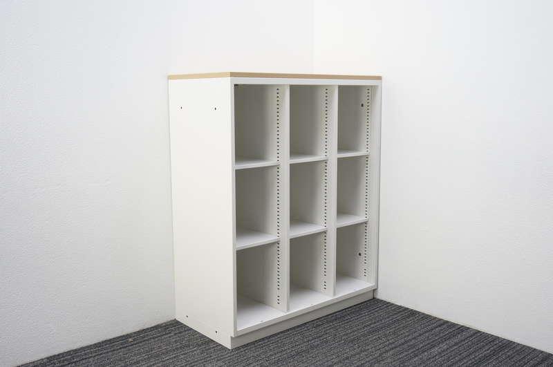 イトーキ シンライン 3列オープン棚型 木天板付 H1120 W9色