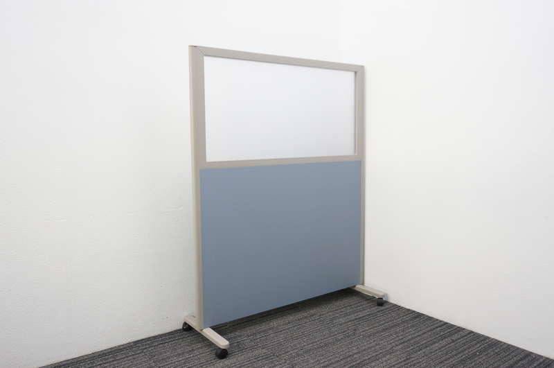 コクヨ パネルスクリーン 1連タイプ 上部アクリル ブルー W1230 D455 H1500