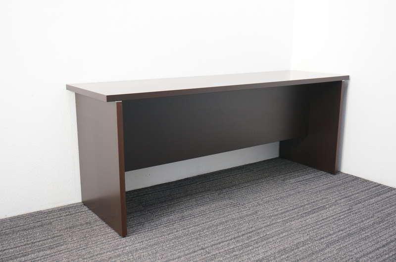 イトーキ X-15 木製サイドテーブル W1800 D550 H720 オークダークブラウン