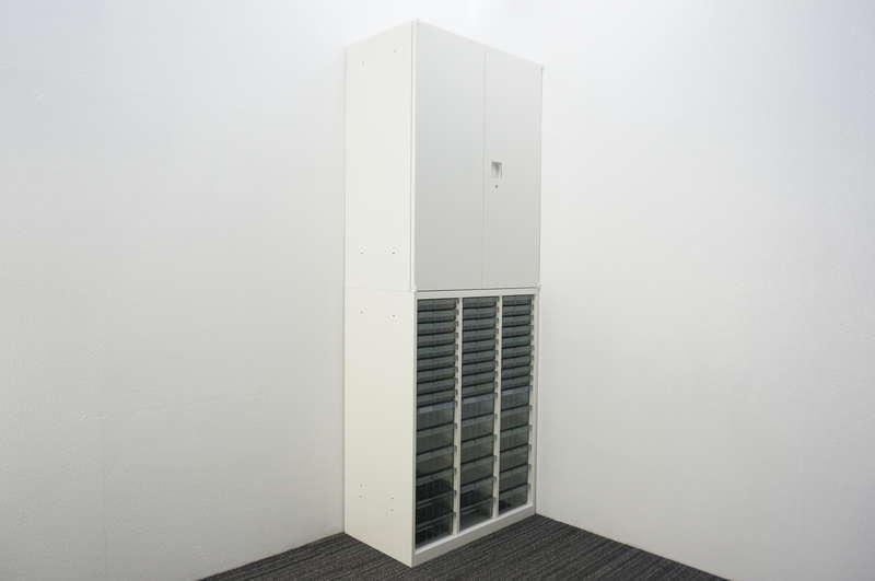 オカムラ レクトライン 書類整理庫(3列15段)+両開き書庫 W800 D450 H2150 ZA75色