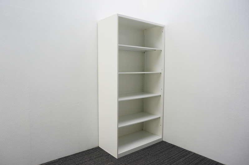 オカムラ レクトライン オープン書庫 ベース無し H1810 ホワイト