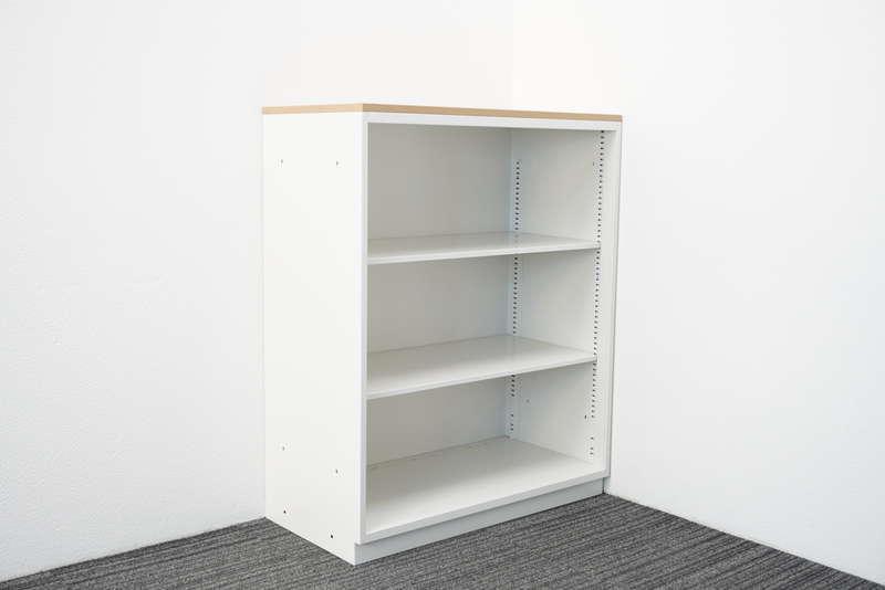 イトーキ シンライン オープン書庫 天板付(ファインウォールナットL) H1120