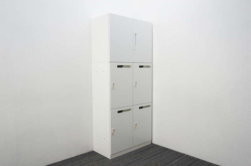 コクヨ エディア 4人用パーソナルロッカー+両開き書庫 W800 D400 H1845