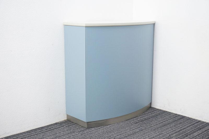 コクヨ US インフォメーションカウンター ブルー W900 D400 H900 (1)