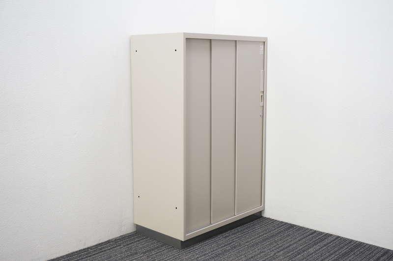 コクヨ 3枚引戸書庫 シングルベース W800 D450 H1245