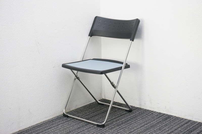 コクヨ パンタ 折りたたみ椅子 メッシュタイプ スカイブルー