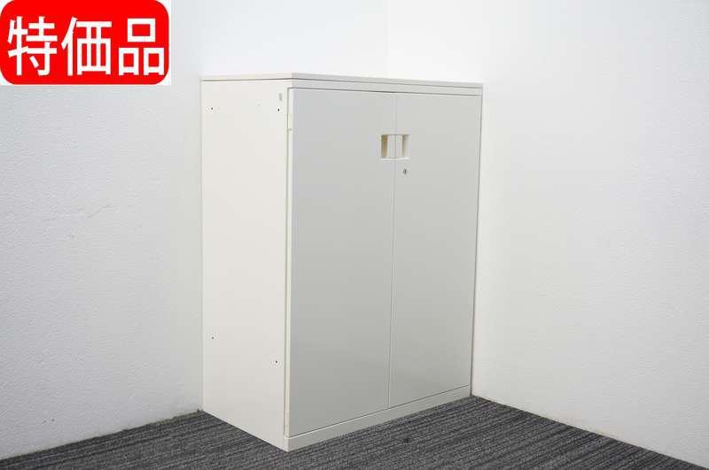 オカムラ SAデュオライン 両開き書庫 天板付 W800 D450 H1080 ホワイト 特価品