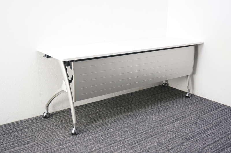 イトーキ リリッシュ2 フラップテーブル 1860 幕板付 ホワイト