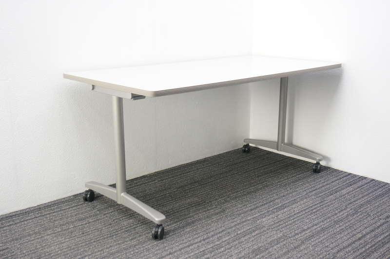 ウチダ ST-3100 ミーティングテーブル 1575 キャスター脚 ライトグレー
