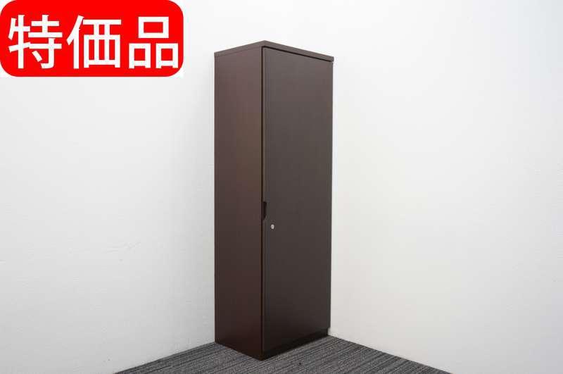 イトーキ XX 木製ワードローブ W600 D450 H1800 オークダークブラウン 特価品