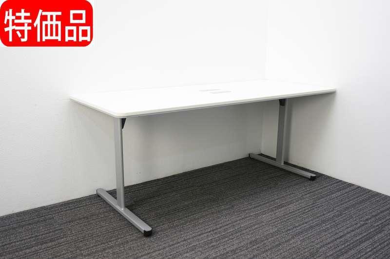 コクヨ BT-500 ミーティングテーブル 1875 T脚 配線ダクト付 ホワイト 特価品