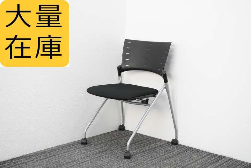 【2019年製】イトーキ マノス ミーティングチェア 背ヌード ブラック