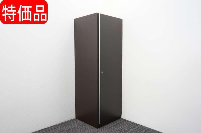 イトーキ X-15 木製ワードローブ W600 D600 H1800 オークダークブラウン 特価品