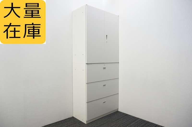 イトーキ シンライン 3段ラテラル+両開き書庫 H2140 W9色
