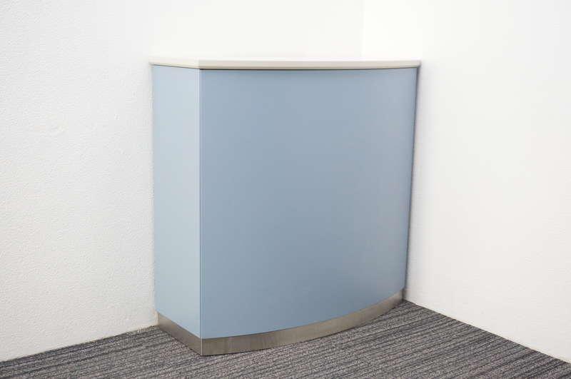 コクヨ US インフォメーションカウンター ブルー W900 D400 H900 (2)