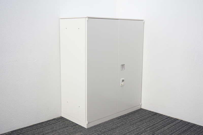 オカムラ レクトライン ダイヤル式両開き書庫 天板付 H1115 ZA75色
