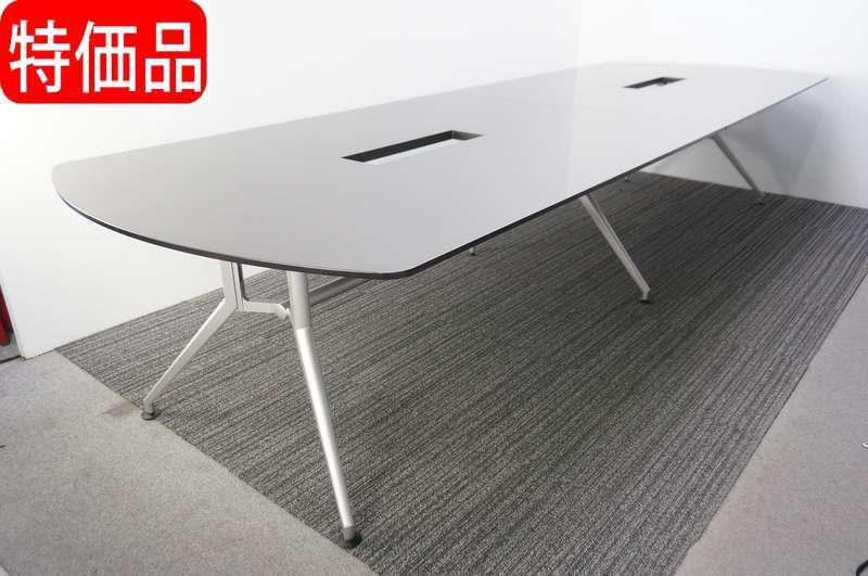 イトーキ DD 両アール型ミーティングテーブル 3612 ジェントルオーク 特価品(天板傷・ダクトカバー無し)