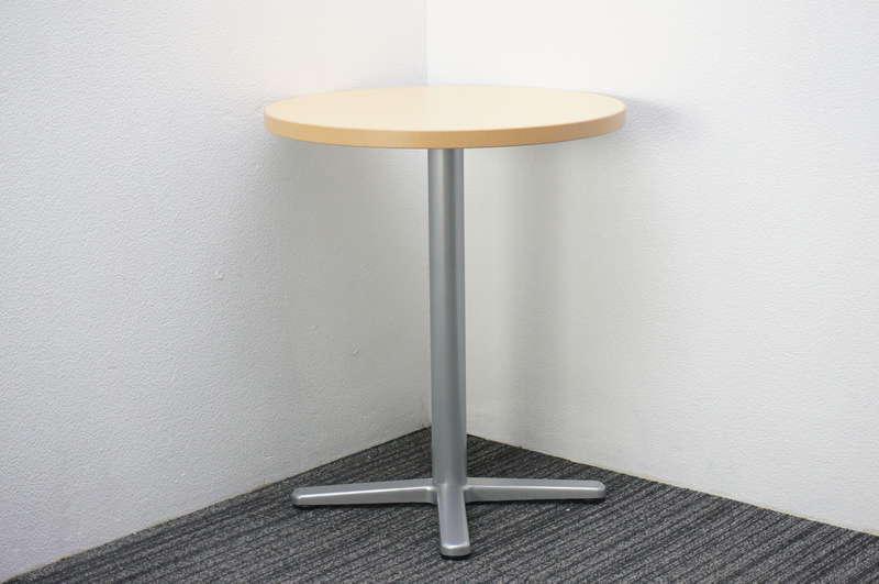 プラス RT-1000 丸テーブル Φ600 H700 ライトメープル