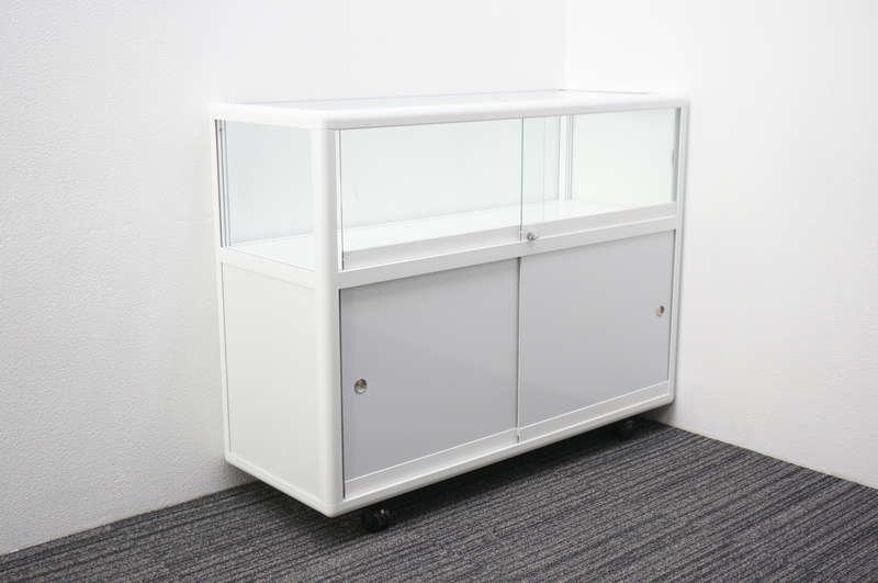 【自社便対応のみ】 ガラスショーケース W1200 D450 H945