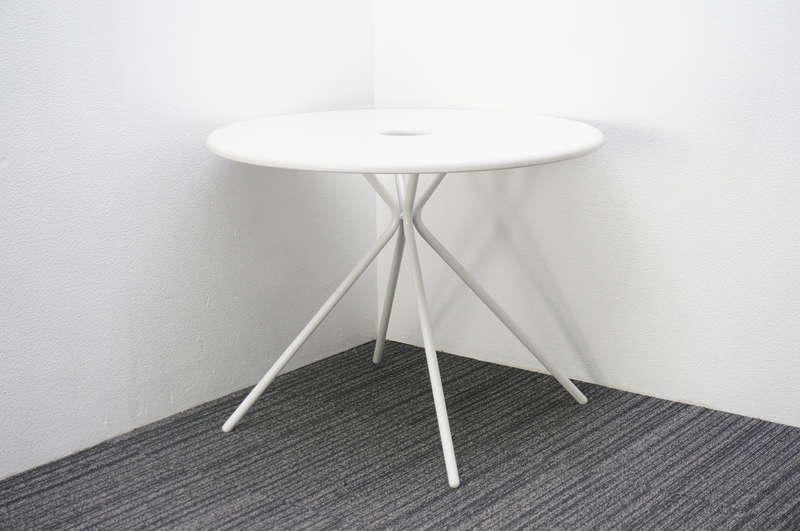 【展示品】 イトーキ フロウラウンジ ラウンジテーブル Φ900 H700 ホワイト