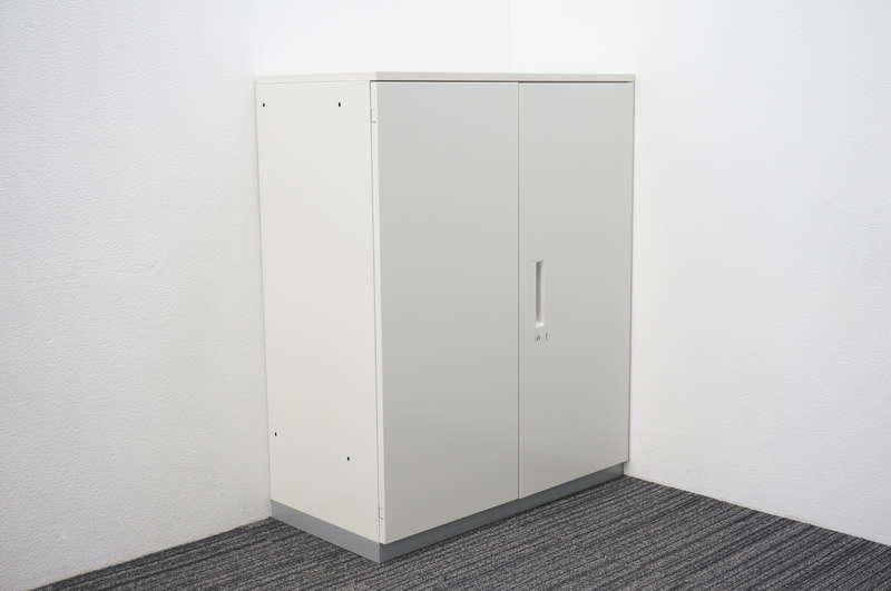 プラス L6 両開き書庫 天板付 H1120 ホワイト