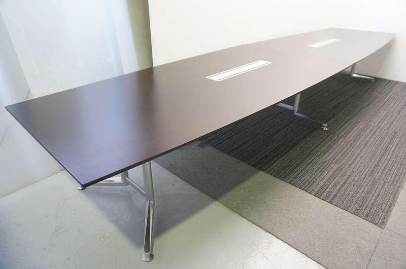 プラス WX-J2 ミーティングテーブル 4812 マホガニー