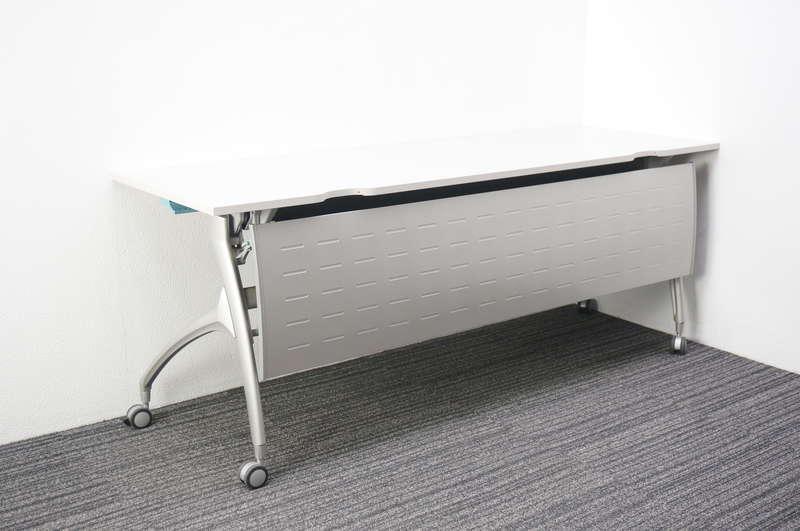 イトーキ リリッシュ フラップテーブル 1860 幕板付 ホワイト