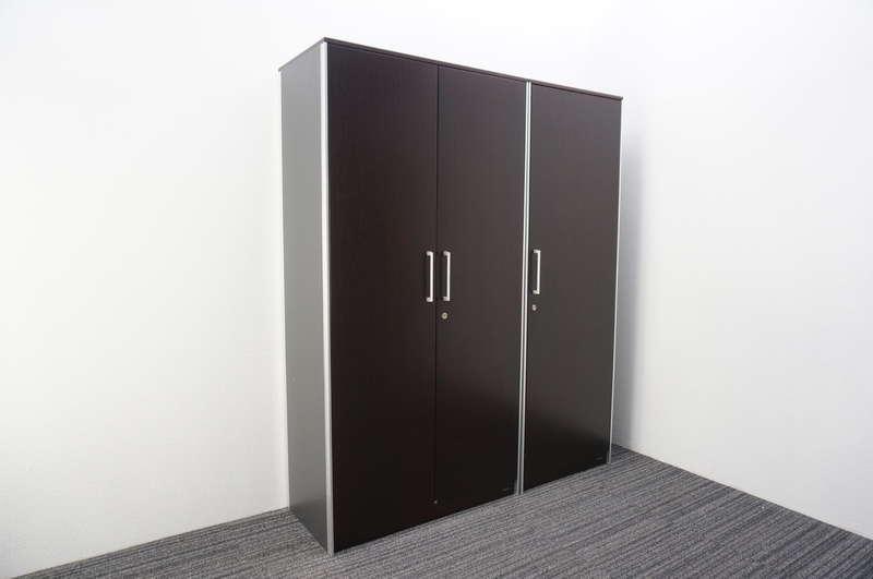 オカムラ マスターライン2 木製書棚+ワードローブ セット品 化粧板なし ローズウッド H1800