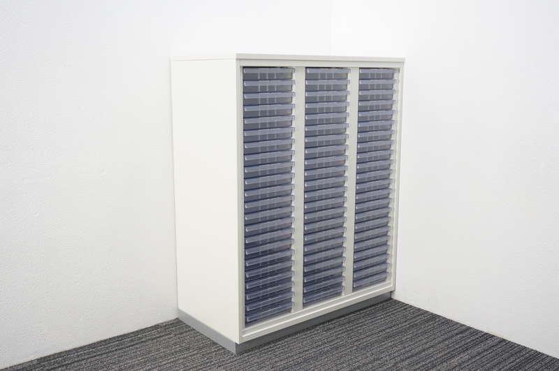 プラス L6 書類整理庫 3列22段 天板付 H1120