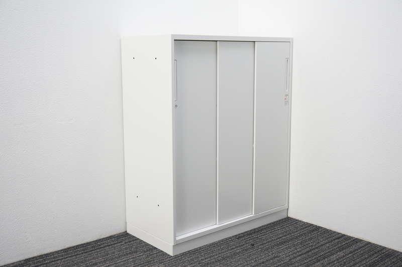 【2017年製】コクヨ エディア 3枚引戸書庫 H1110 ホワイト
