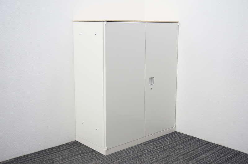 オカムラ レクトライン 両開き書庫 ライトプレーン天板付 H1115 ZA75色