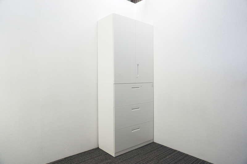 コクヨ エディア 3段ラテラル+両開き書庫 H2160