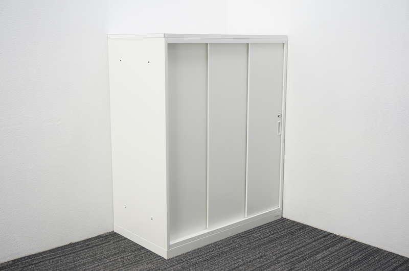 オカムラ 収納ユニット50 3枚引戸書庫 天板付 W900 D500 H1120 ZA75色
