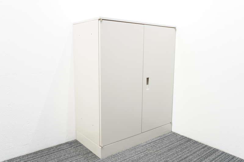 オカムラ 42 両開き書庫 天板付 10cmベース H1120