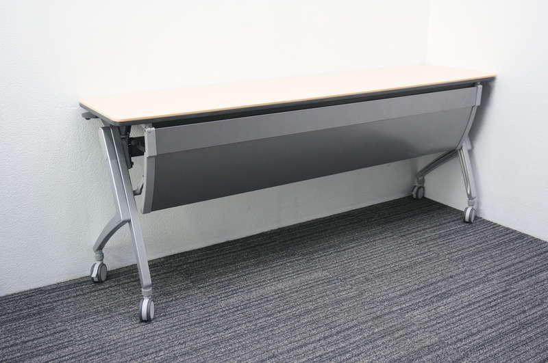 プラス Luarco(ルアルコ) フラップテーブル 1845 幕板付 ホワイトメープル