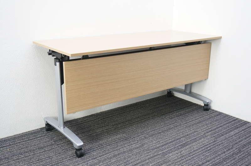 【B級 未使用品】 イトーキ トラディカ フラップテーブル 1560 幕板付 ファインウォールナットL