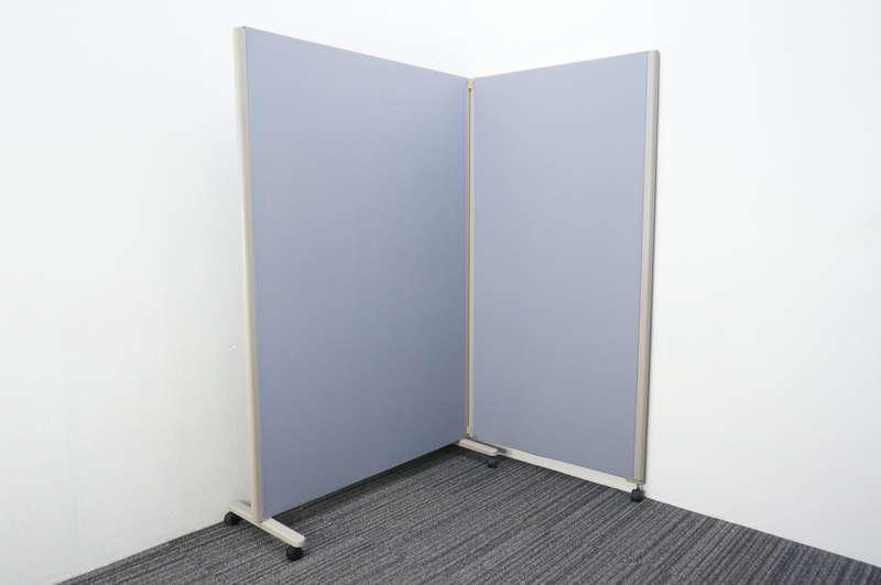 コクヨ パネルスクリーン 2連タイプ 全面クロス ブルー W900+1230 D460 H1800
