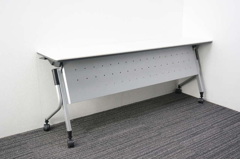 プラス リネロ2 フラップテーブル 幕板付 1845 H720 ホワイト