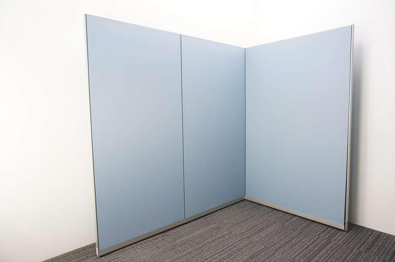 オカムラ ポジット パーティション クロスパネル ブルー W900×1 W1000×1 W1200×3 H1920