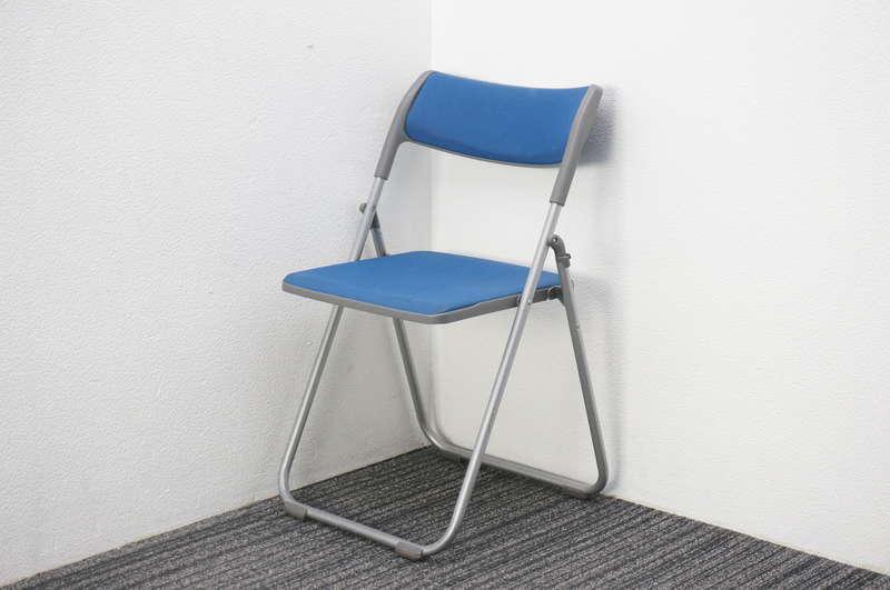 ウチダ S-480 折りたたみ椅子 ブルー