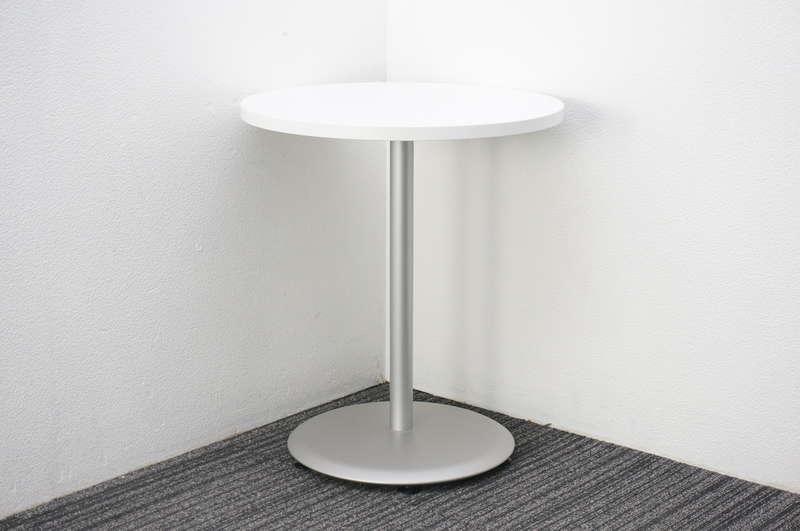オカムラ アルトカフェ 丸テーブル Φ600 H700 ホワイト