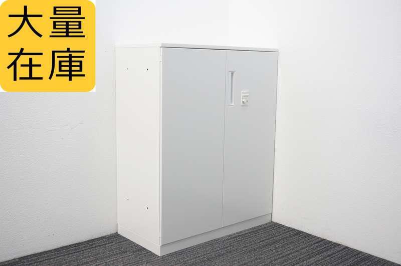 コクヨ エディア ダイヤル式両開き書庫 天板付 H1130 ホワイト