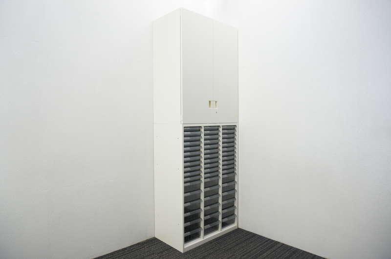オカムラ SAデュオライン 書類整理庫(3列17段)+両開き書庫 W800 D450 H2227 ZA75色