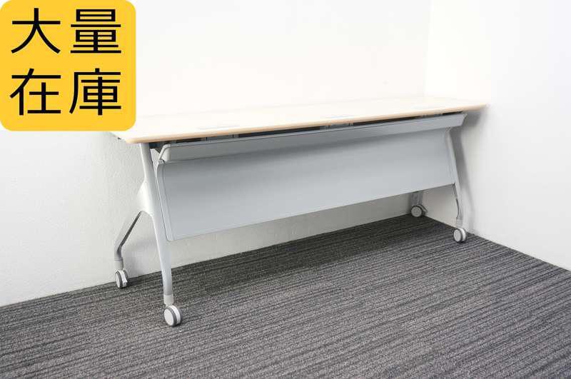 コクヨ エピファイ フラップテーブル 1845 幕板付 ライトナチュラル天板