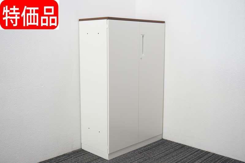コクヨ エディア 扉付き書類整理庫 天板付 深型 A4 H1265 特価品