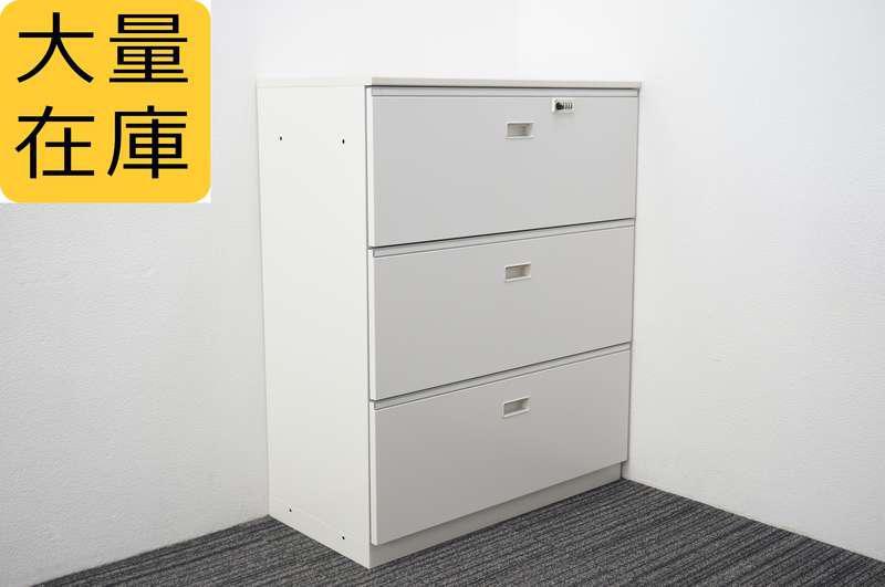 イトーキ シンライン ダイヤル式3段ラテラル書庫 H1118 W9色