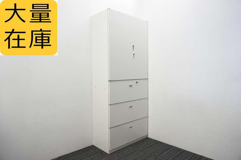 イトーキ シンライン ダイヤル式3段ラテラル+両開き書庫 H2140 W9色