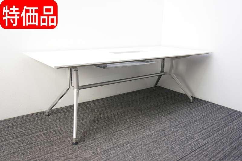 イトーキ DD ミーティングテーブル W2100 D900 H700 ホワイト 特価品(ダクトカバー無し)
