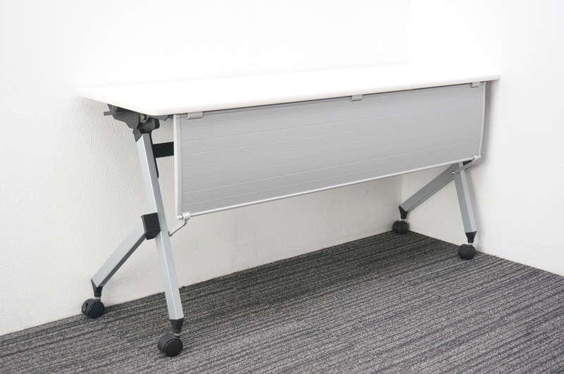 イトーキ HX フラップテーブル 1545 幕板付 ホワイト