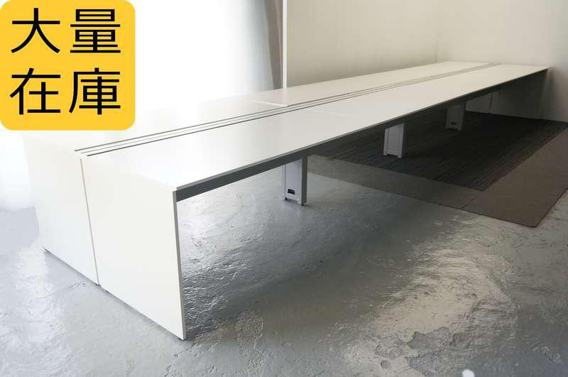 イトーキ インステートリンク フリーアドレスデスク 6414 W1600天板×8枚 H720 ホワイト